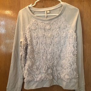Lace Rose Detailed Sweater